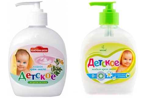 жидкое детское мыло